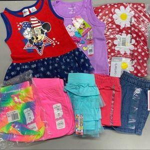 Summer Clothes Baby Girl 18M Shorts Dress Shirts